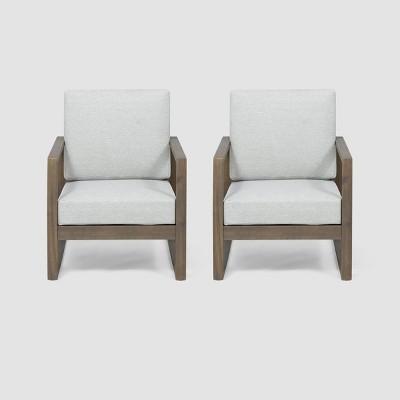 Belgian 2pk Acacia Wood Club Chair - Christopher Knight Home