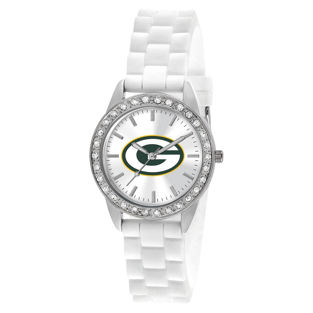 Women's Green Bay Packers Game Time Frost Series Watch White, Green Bay Packers - White