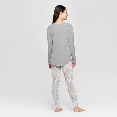 186368a7eeb5 Women s Cozy Pajama Set - Xhilaration™ Gray M   Target
