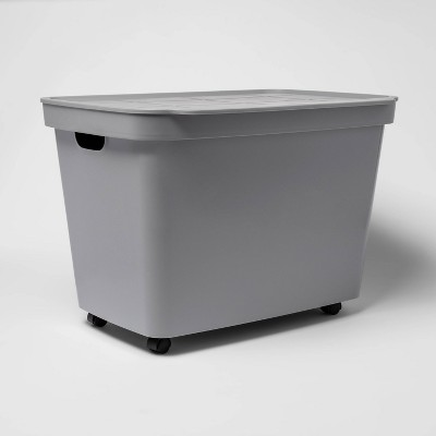 21.1gal Rolling Toy Chest Gray - Room Essentials™
