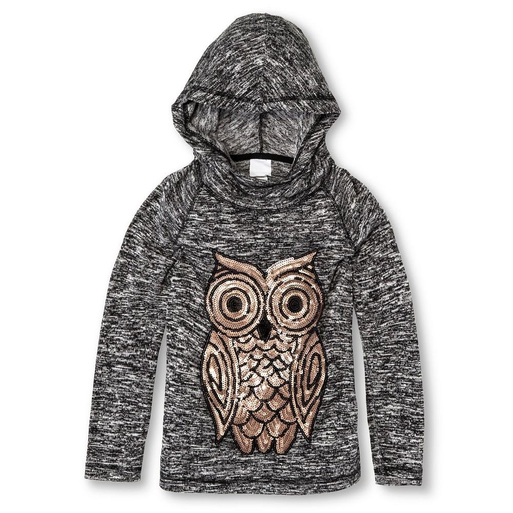 Girls' Miss Chevious Owl Long Sleeve Hoodie - Black S