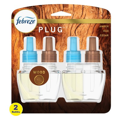 Febreze Plug Wood Refill with Fade Defy Technology - 2ct