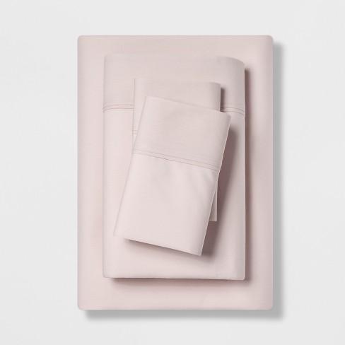 300 Thread Count Organic Cotton Solid Sheet Set - Threshold™ - image 1 of 1