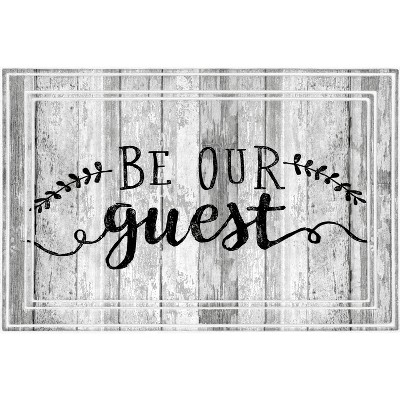 2'x3' Fashionables Deluxe Be Our Guest Doormat White - Apache Mills
