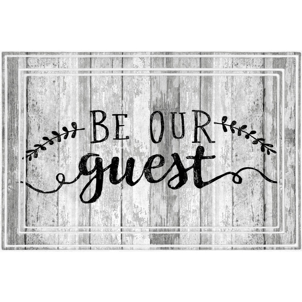 Image of 2'x3' Fashionables Deluxe Be Our Guest Doormat White - Apache Mills