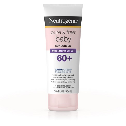 Neutrogena® Pure & Free® Baby Sunscreen Lotion Broad Spectrum - SPF 60 - 3 fl oz - image 1 of 5