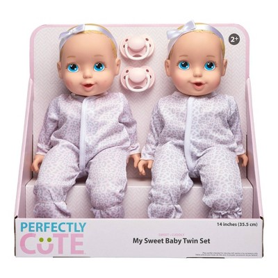 "Perfectly Cute 14"" My Sweet Baby Girl Doll Twin Set - Blonde with Blue Eyes"