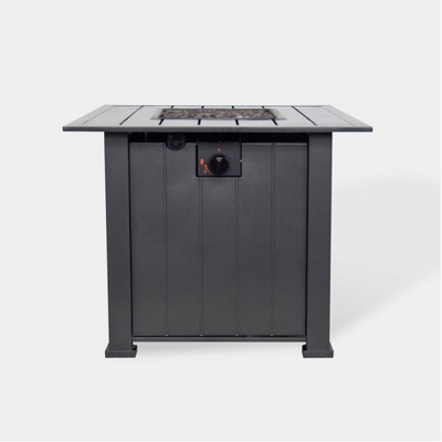 "Camden 30"" Wide Square Fire Table - Brown - Threshold™"