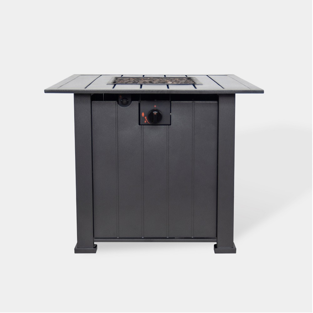 "Image of ""Camden 30"""" Wide Square Fire Table - Black - Threshold"""