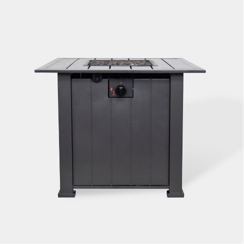 """Camden 30"""" Wide Square Fire Table - Black - Threshold™ - image 1 of 3"""