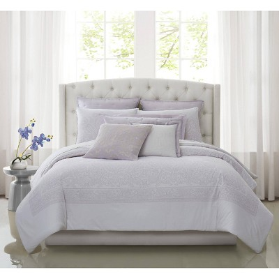 Charisma Medici Duvet Set White/Lavender