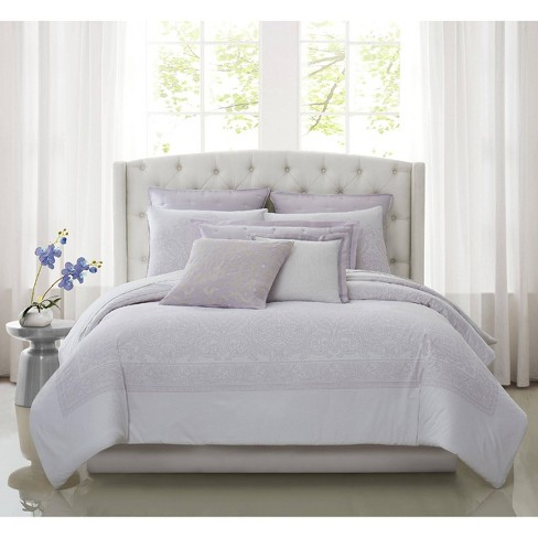 Charisma Medici California King Comforter Set White/Lavender : Target