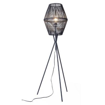 Teva Floor Lamp (Includes Light Bulb) Black - ZM Home