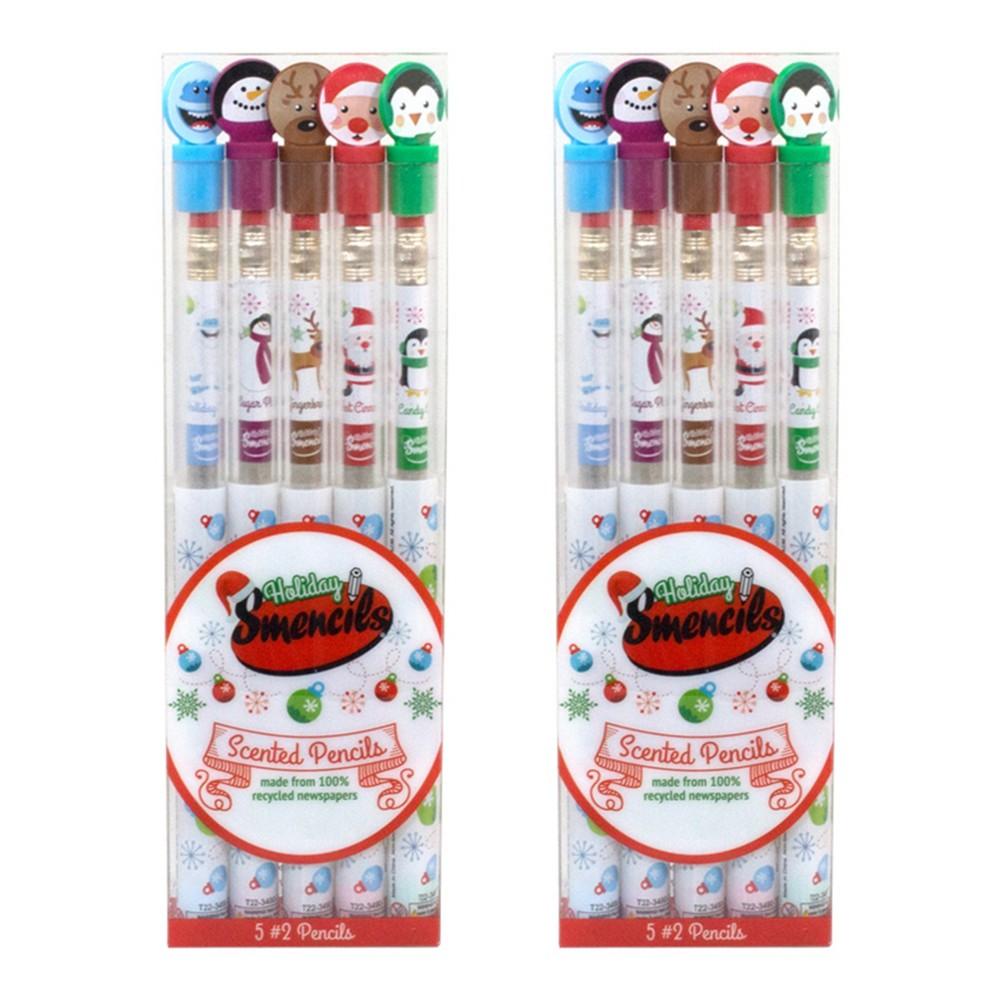 Scentco 2pk Holiday Smencils Scented Pencils 5ct, Multi-Colored