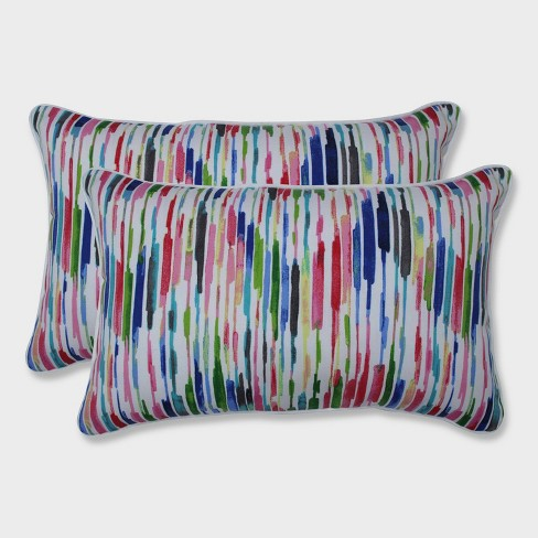 2pk Drizzle Summer Rectangular Throw Pillows Pink - Pillow Perfect - image 1 of 3