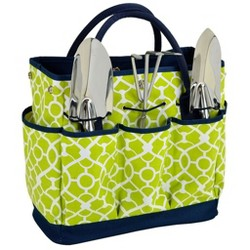 Picnic at Ascot Gardening Tote with 3 Tools - Trellis Green