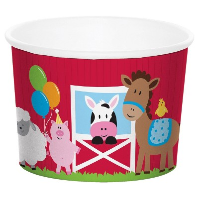 6ct Farm Fun Treat Cups Disposable Drinkware