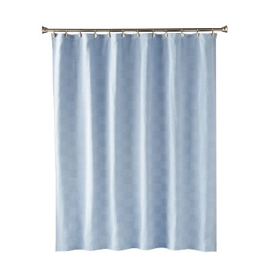 Large Basketweave Shower Curtain Blue - Saturday Knight Ltd.
