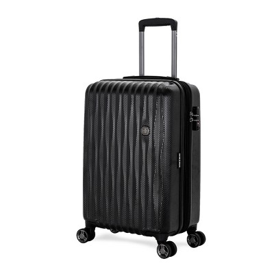 SwissGear Energie USB Port PolyCarb Hardside 20  Carry On Suitcase - Black