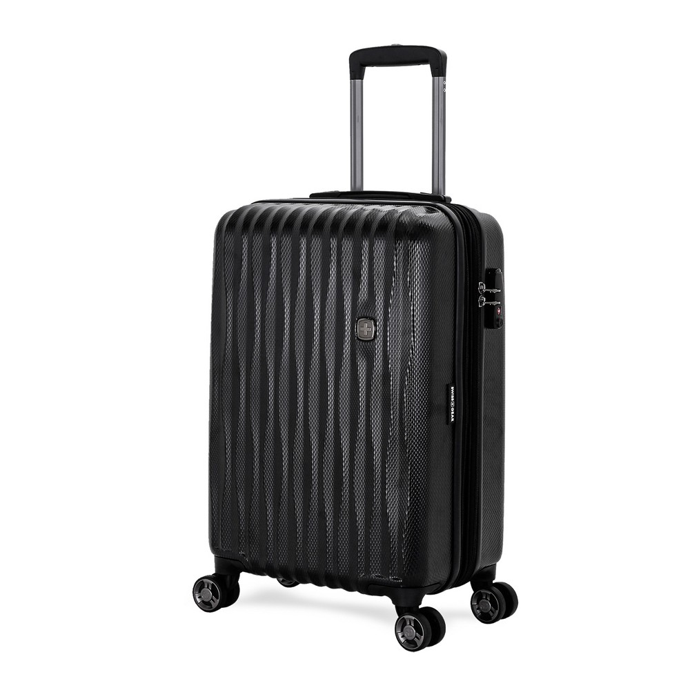 Swissgear 20 34 Energie Usb Port Polycarb Hardside Carry On Spinner Suitcase Black
