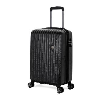 "SWISSGEAR Energie USB Port PolyCarb Hardside 20"" Carry On Suitcase - Black"