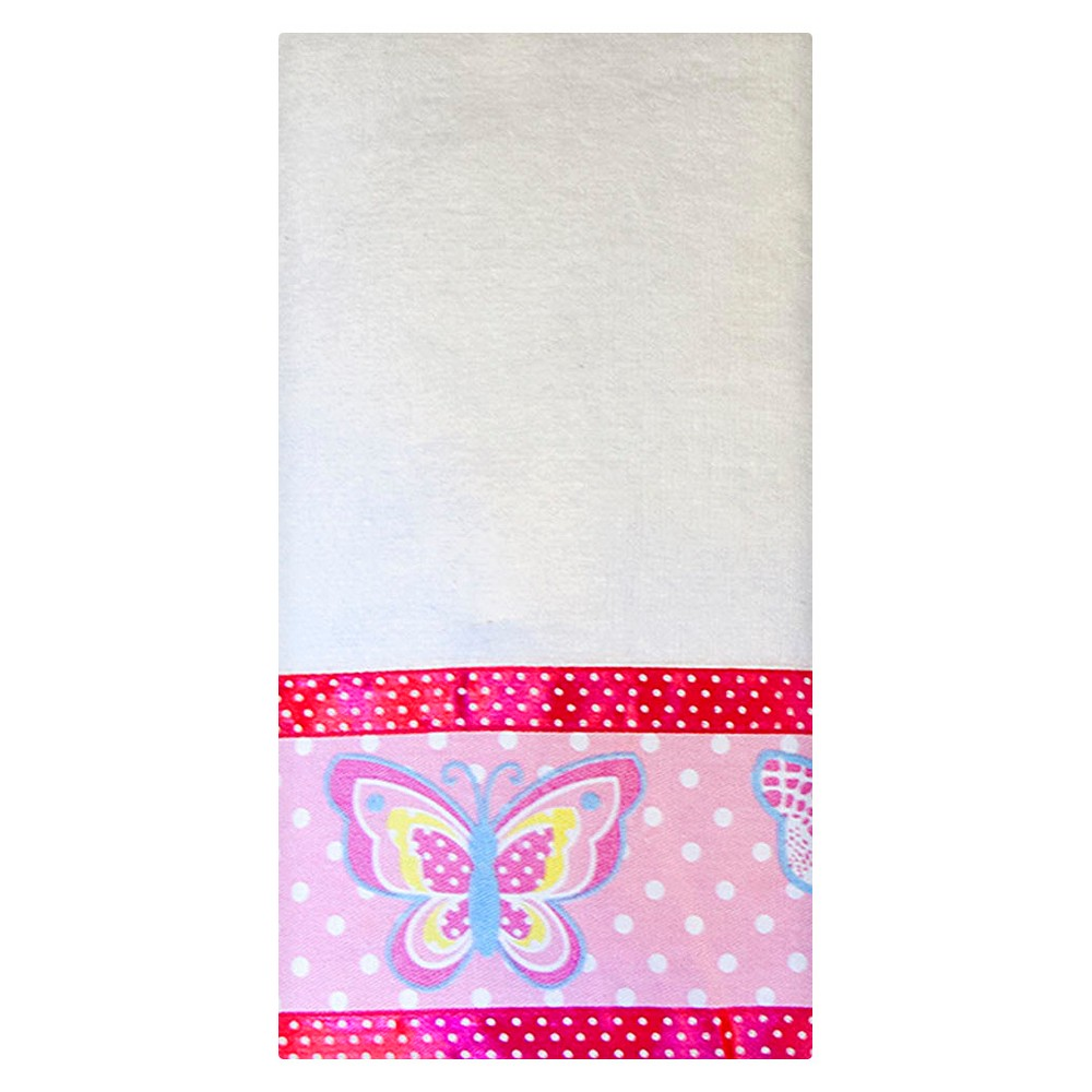 Image of Butterfly Dots Hand Towels White/Pink - Homewear