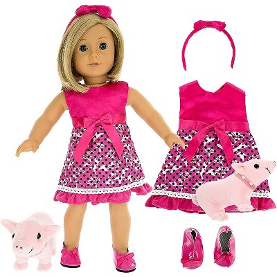 Dress Along Dolly Pet Pig Walker Outfit for American Girl Doll