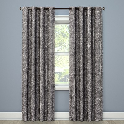84 x50  Modern Stroke Blackout Curtain Panel Gray - Project 62™
