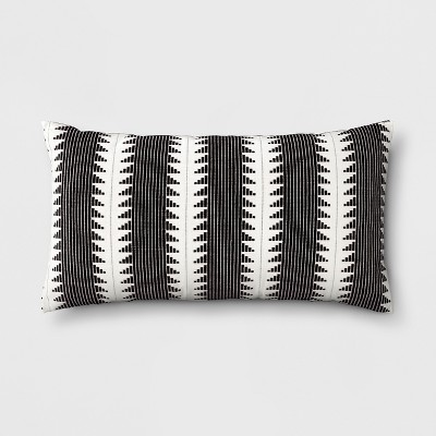 Global Oversize Lumbar Throw Pillow Black - Threshold™