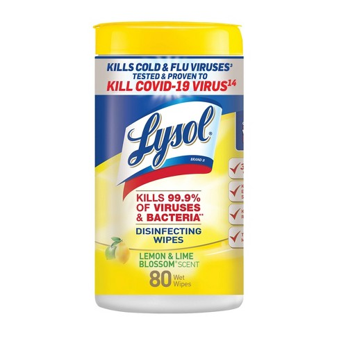Lysol Disinfecting Wipes - Lemon & Lime Blossom - image 1 of 4