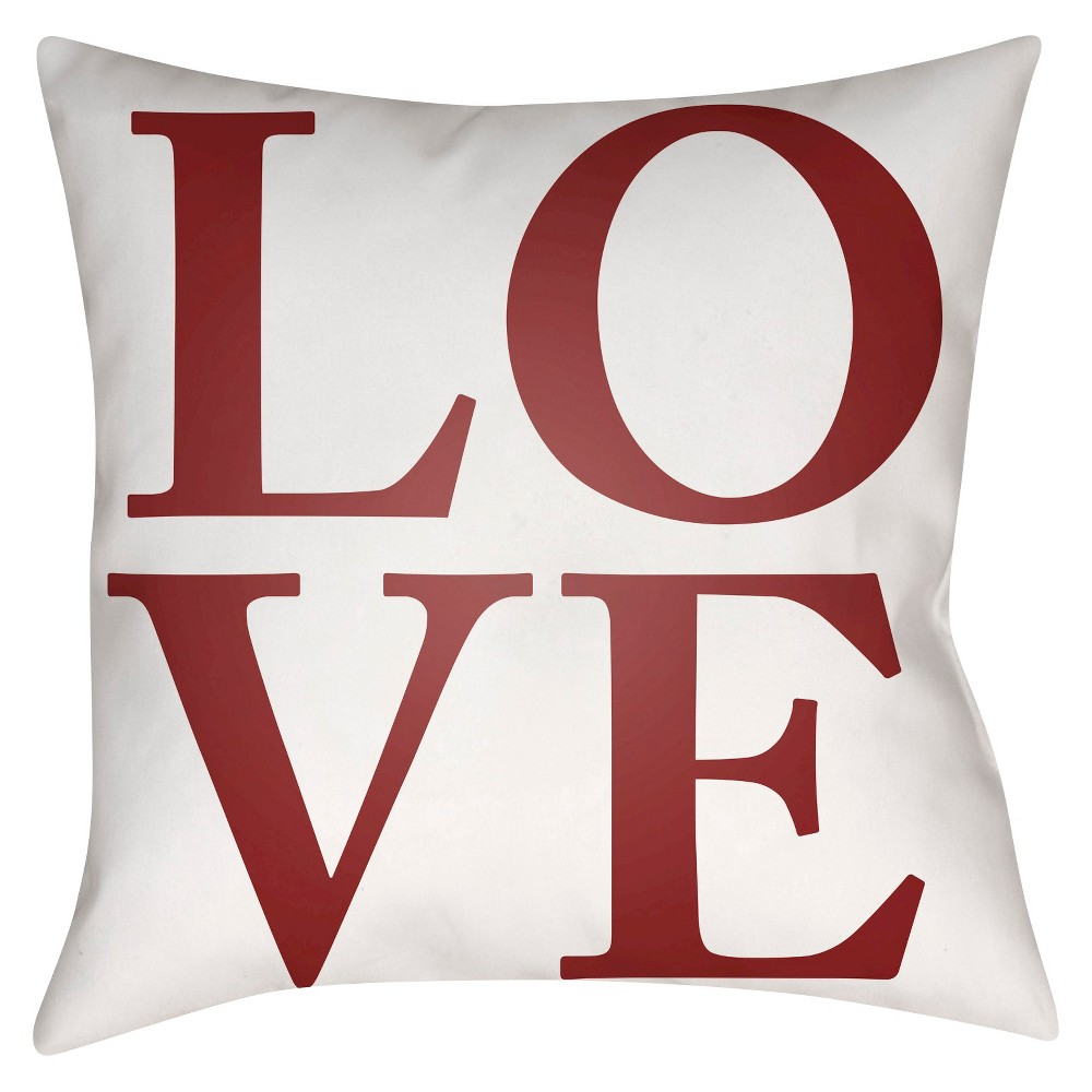 Red Love Throw Pillow 20