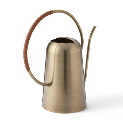 """12"""" x 12"""" Iron Watering Can Gold - Hilton Carter for Target"""