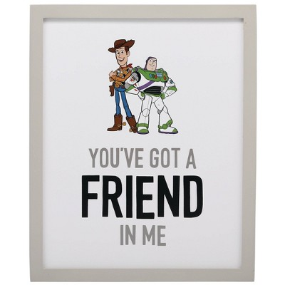 Toy Story Friend In Me Wood Framed Wall Canvas