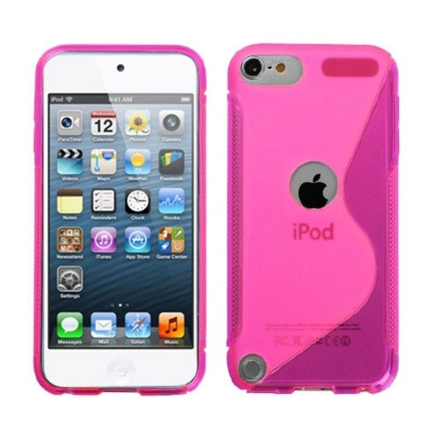 MYBAT For Apple iPod Touch 5th Gen/6th Gen Hot Pink Clear S Shape Candy Case Cover - image 1 of 3