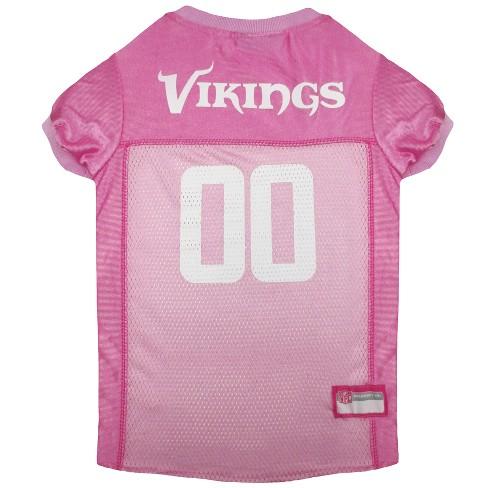 NFL Pets First Pink Pet Football Jersey - Minnesota Vikings - image 1 of 2
