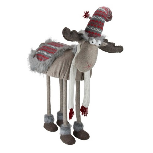 """Northlight 29"""" Winter Ready Bobble Action Nordic Christmas Standing Moose Figure - image 1 of 2"""