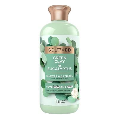 Beloved Green Clay & Eucalyptus Shower & Bath Gel Body Wash - 12 fl oz
