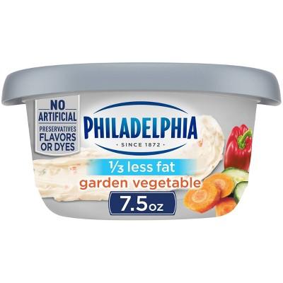 Philadelphia Reduced Fat Garden Vegetable Cream Cheese Tub - 7.5oz