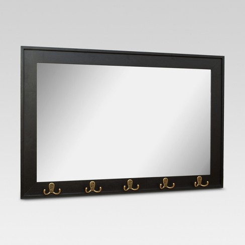 Rectangle Entryway Decorative Wall Mirror With Hooks Threshold Target
