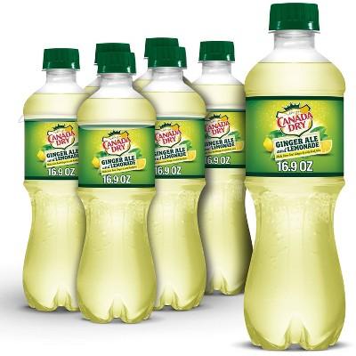 Canada Dry Ginger Ale Soda and Lemonade - 6pk/16.9 fl oz Bottles
