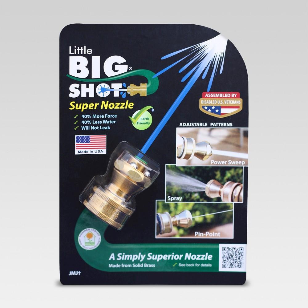 Brass Little Big Shot Super Nozzle - Light Gold - As Seen on TV