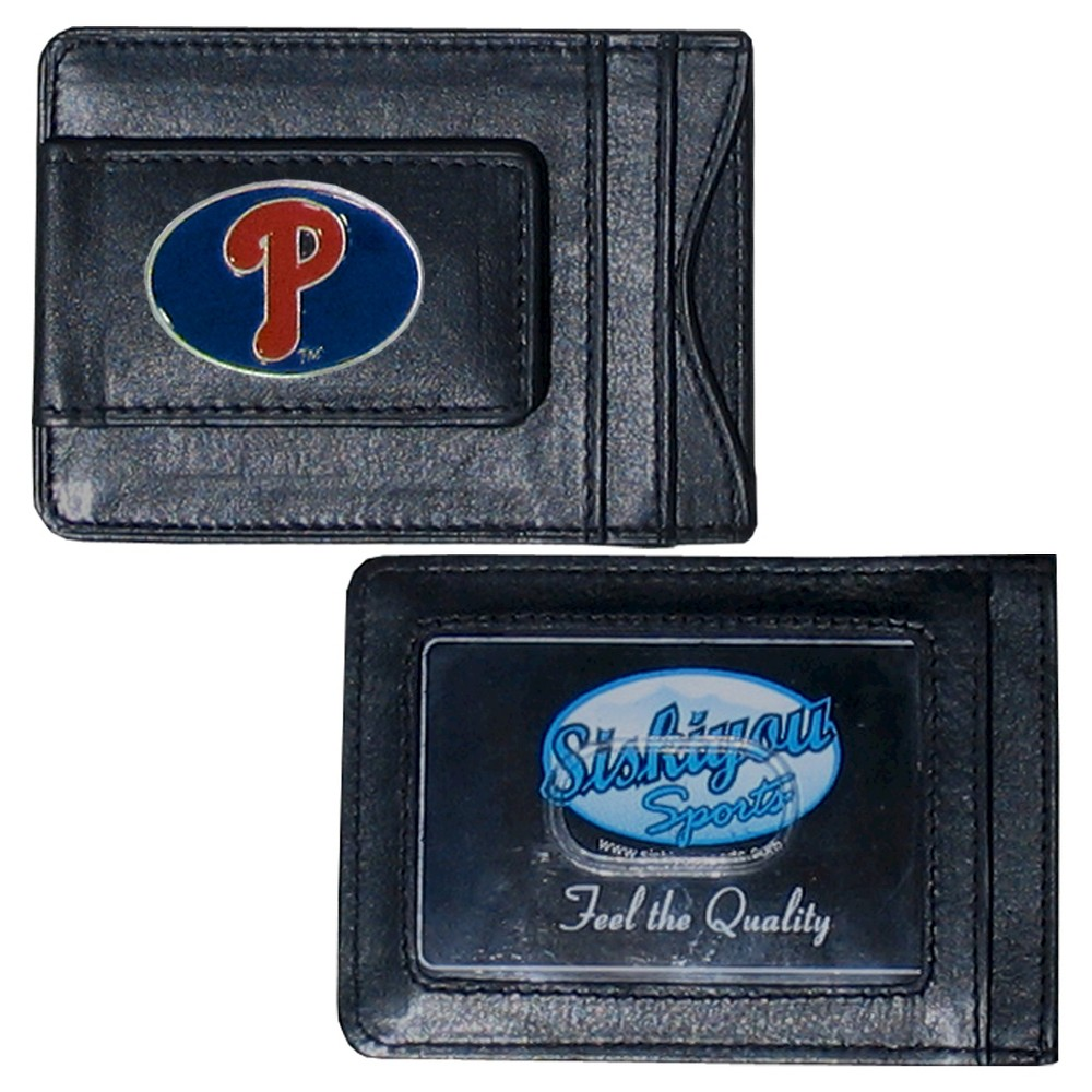 Philadelphia Phillies Siskiyou Men's Money Clip Wallet - Black