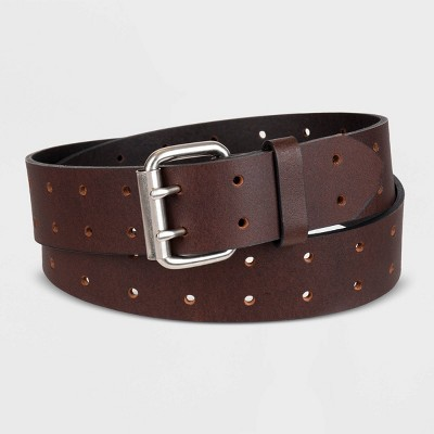 Dickies Men's Roller Buckle Belt - Brown 34