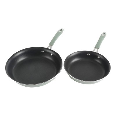 Cravings by Chrissy Teigen 2pk Aluminum Frying Pan Set Green