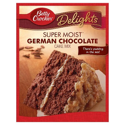 Baking Mixes: Betty Crocker Super Moist Delights German Chocolate Cake Mix