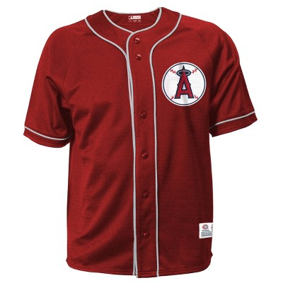 MLB Los Angeles Angels Men's Button-Down Jersey