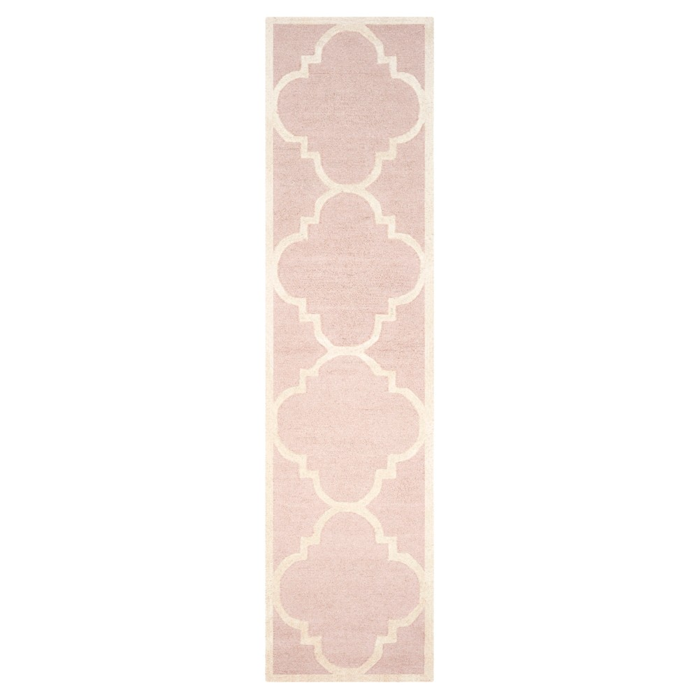 Landon Texture Wool Rug - Light Pink / Ivory (2'6 X 10') - Safavieh, Light Pink/Ivory