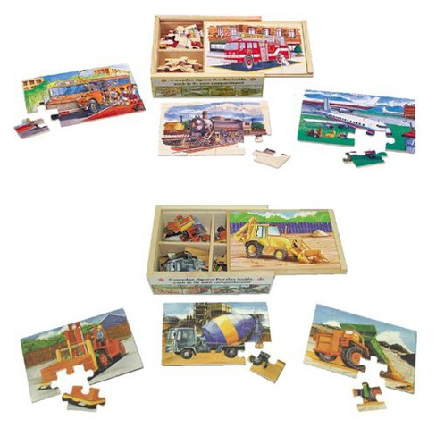 Vehicles and Construction Wood Puzzle 96pc - image 1 of 2