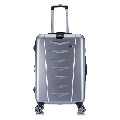 "InUSA AirWorld 24"" Hardside Spinner Suitcase - Silver - image 1 of 7"