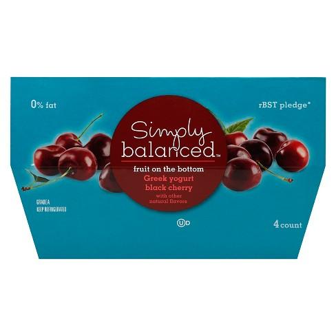 0 Fruit On The Bottom Black Cherry Greek Yogurt